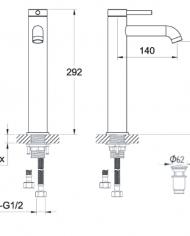 Technische Zeichnung Mischarmatur 2806010010